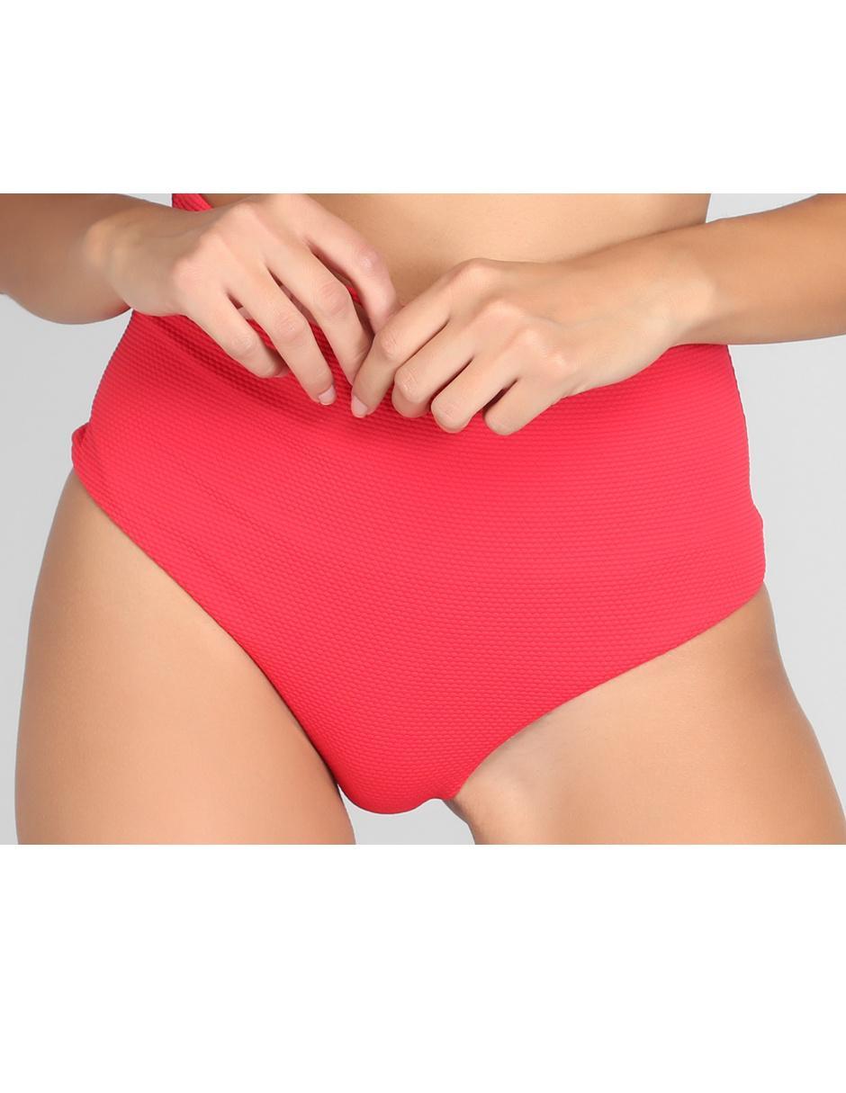 5c62198571e6 Bikini Calzedonia rojo brillante texturizado